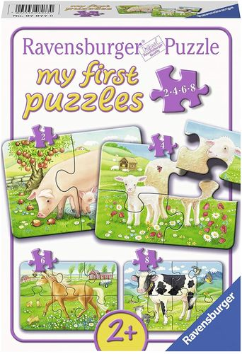 Ravensburger 07077 my First Puzzles: Unsere Lieblingstiere- Kinderpuzzle